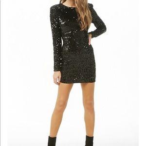 Black Bodycon Sequin Dress